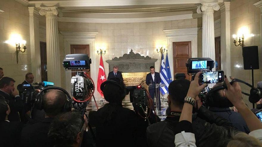 Δηλώσεις Τσίπρα-Ερντογάν: Ανοιχτές διαφωνίες και χαμόγελα