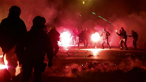 Police and demonstrators clash in Athens overnight