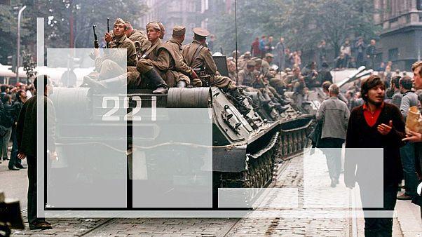 Soviet troops in Prague, 1967