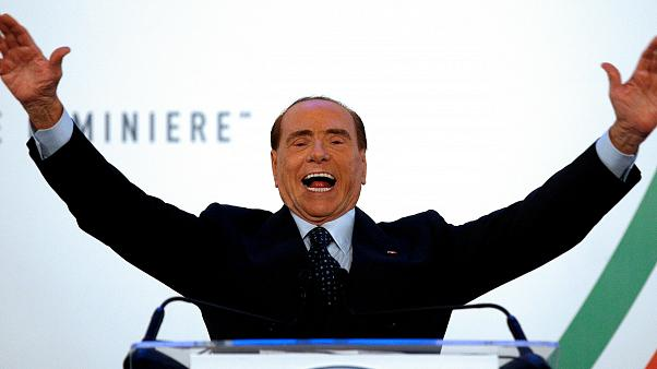 Forza Italia party leader Silvio Berlusconi gestures as he speaks