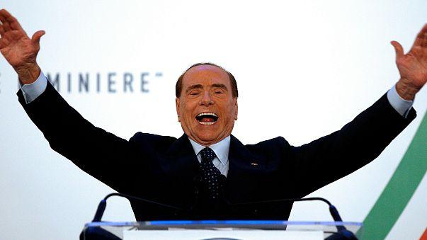 Forza Italia party leader Silvio Berlusconi gestures as he speaks