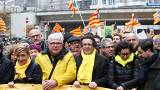 Katalanische Separatisten demonstrieren in Brüssel