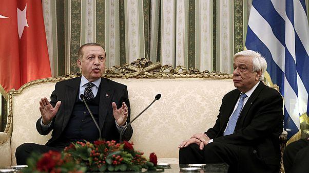 روسای جمهور ترکیه و یونان- عکس از رویترز