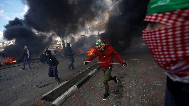 Palestinians protest Trump's Jerusalem move