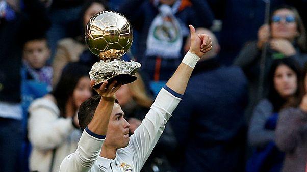 رونالدو برای پنجمین بار برنده توپ طلا شد