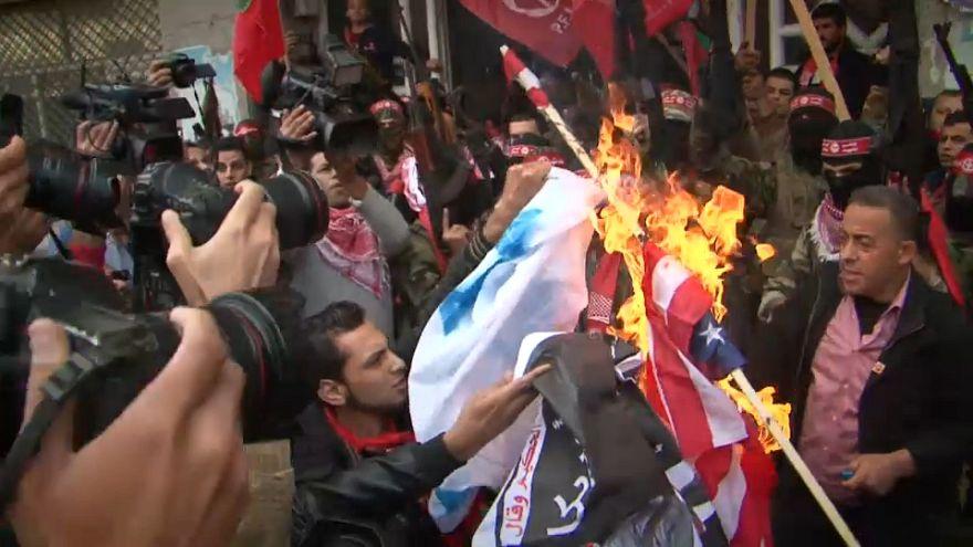 Duros enfrentamientos en Cisjordania tras el anuncio de Trump