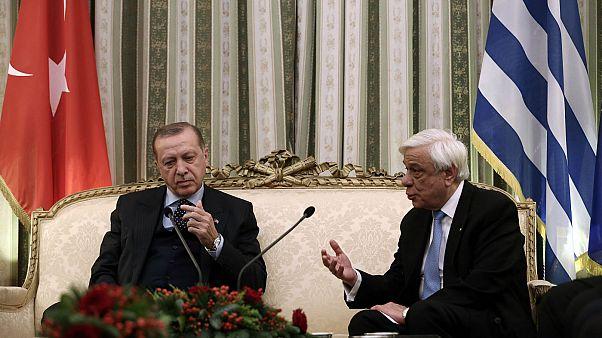 Παυλόπουλος - Ερντογάν: Διπλωματία μπροστά στις κάμερες