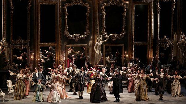 "Eine Szene aus der Oper ""Andrea Chenier"""