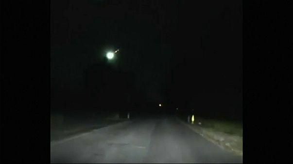 Watch: Huge fireball streaks across night sky
