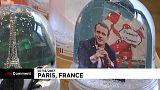 Macron snowglobe and baby giraffes