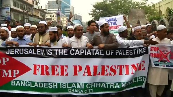 El mundo musulmán protesta contra Trump