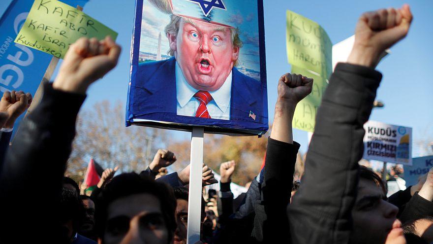 Protestos contra Trump no mundo muçulmano