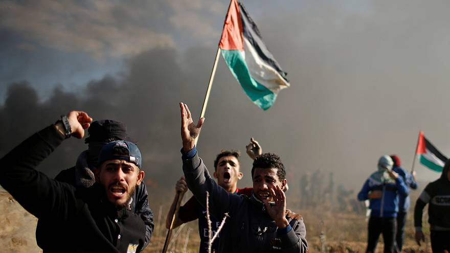 Массовые протесты на палестинских территориях