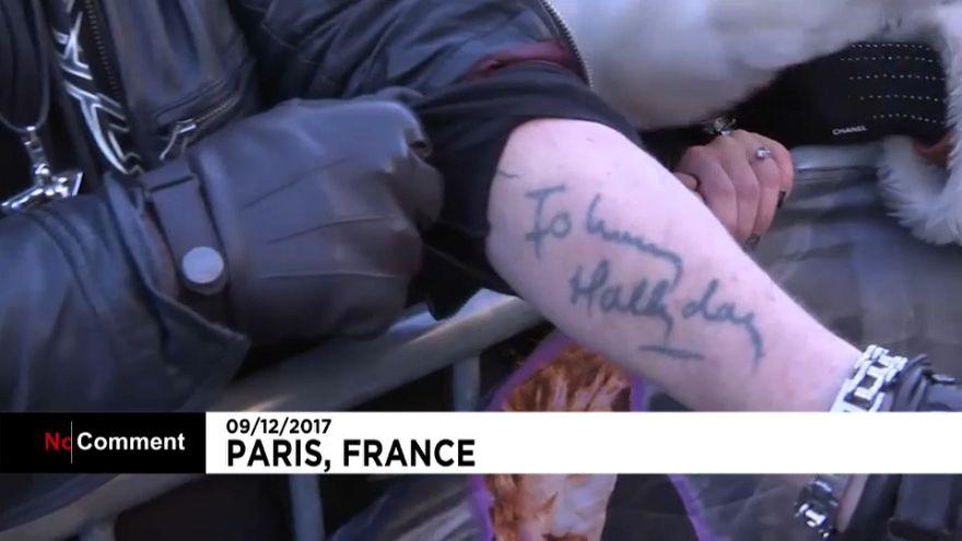 Obsèques nationales à Paris pour le rocker français Johnny Hallyday