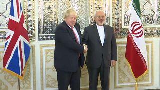 Diplomatic discussions: Boris Johnson meets Iranian counterpart