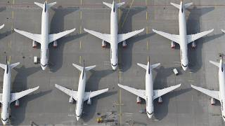 How old is the EU's commercial aircraft fleet?