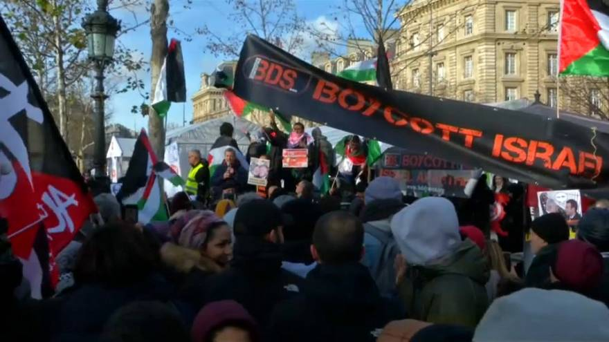 Paris'te göstericiler Netanyahu ziyaretini protesto etti