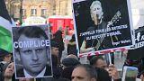В Париже протестуют против визита Нетаньяху