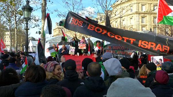 Pro-Palestinian protest in Paris