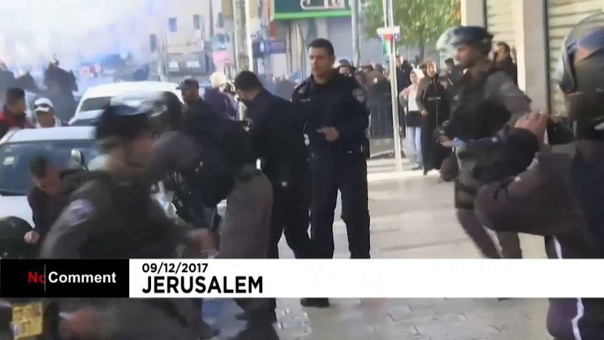 Protestos em Jerusalém contra declarações de Trump