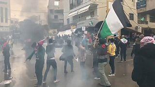 Disturbios ante la embajada de EEUU de Beirut