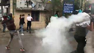 US-Botschaft in Beirut im Tränengas-Nebel