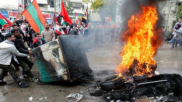 Violência nas ruas de Beirute