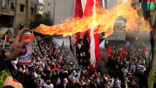 Clashes near U.S. embassy in Beirut