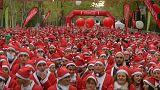 Santa race in Spain