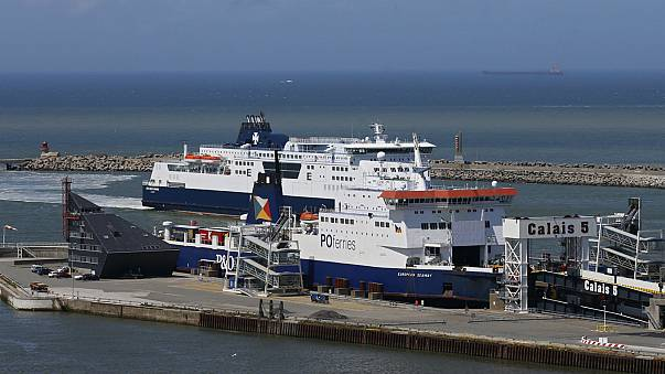 Dover-bound ferry runs aground in Calais due to bad weather