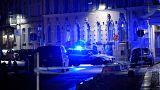 Schwedische Polizei sichert den Tatort