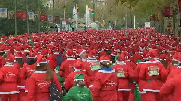 Madrid'de Noel Baba Maratonu