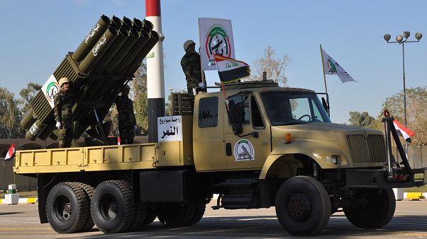 جانب من العرض العسكري في العاصمة العراقية