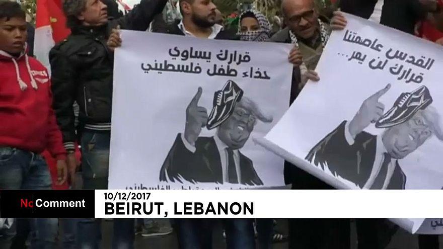 Ливан: акция протеста у посольства США