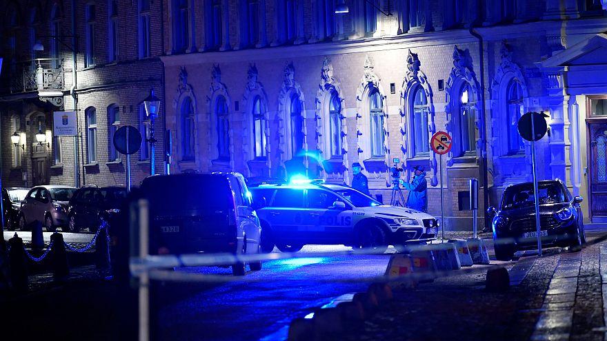 Police responds to an attack near a synagogue in Gothenburg, Sweden, Dec. 9