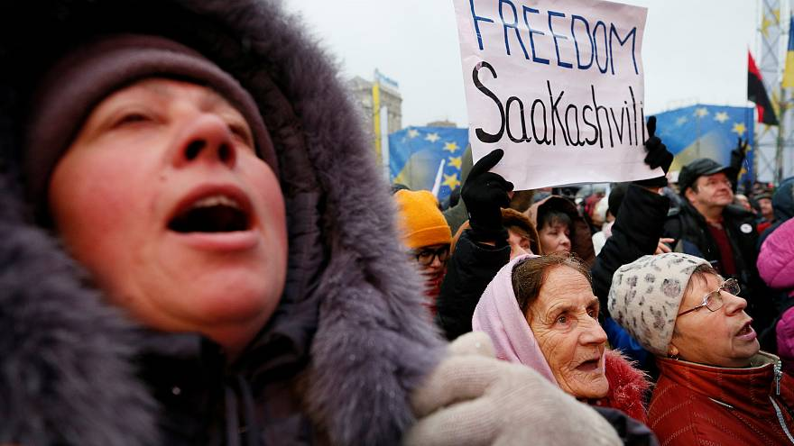 Ουκρανία: Διαδηλώσεις υπέρ του Σαακασβίλι