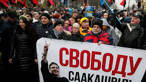 Kiew: Kundgebung für Saakaschwili