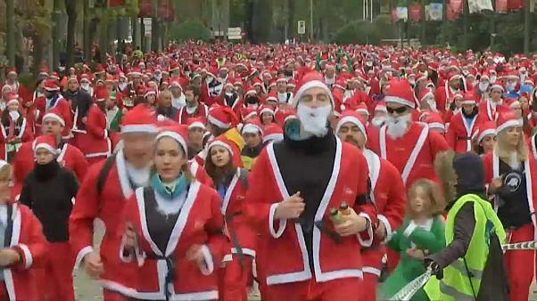 Noel Babalar kanser çocuklar için koştu