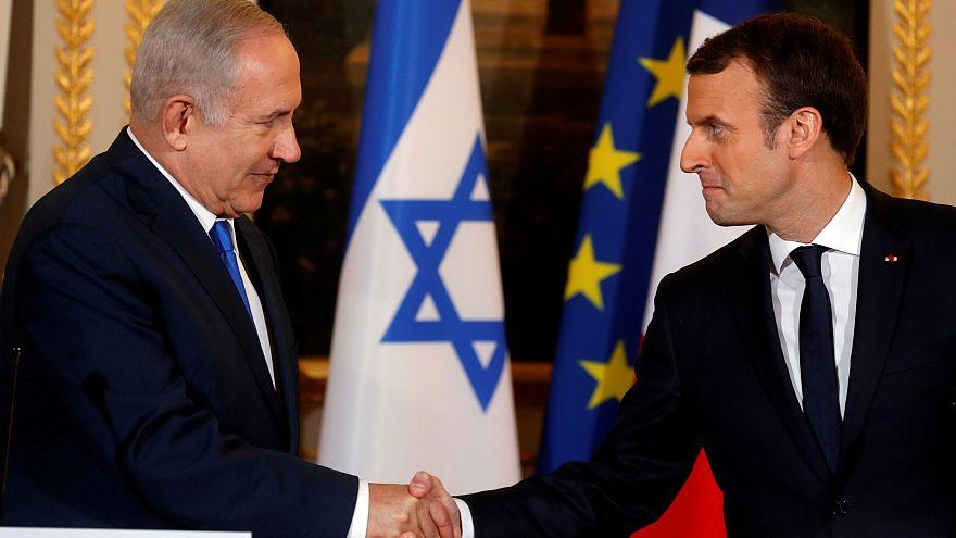 Macron reçoit Netanyahu à l'Elysée