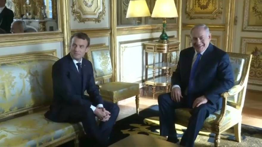 Macron and Netanyahu hold talks in Paris