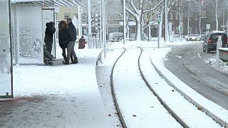 Германия и Швейцария под снегом