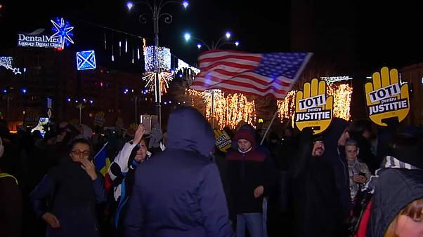 Romanya'da 'Adalet Reformu' protestosu