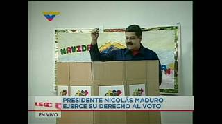 President Maduro votes in mayoral elections which opposition boycott