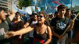 Manifestación contra la OMC en Buenos Aires