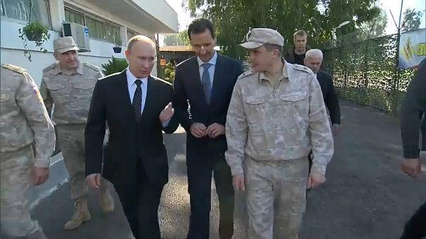 بوتين يلتقي الأسد في حميميم ويأمر ببدء سحب القوات الروسية من سوريا