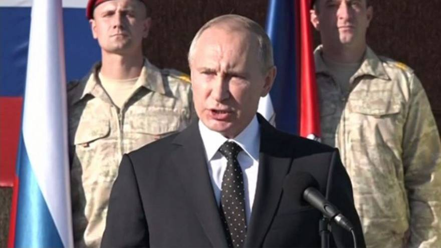 Russia's Putin orders the withdrawal of Russian troops from Syria