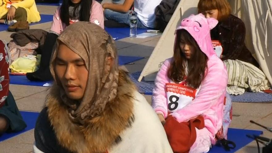 'Doing nothing' competition held in Taiwan