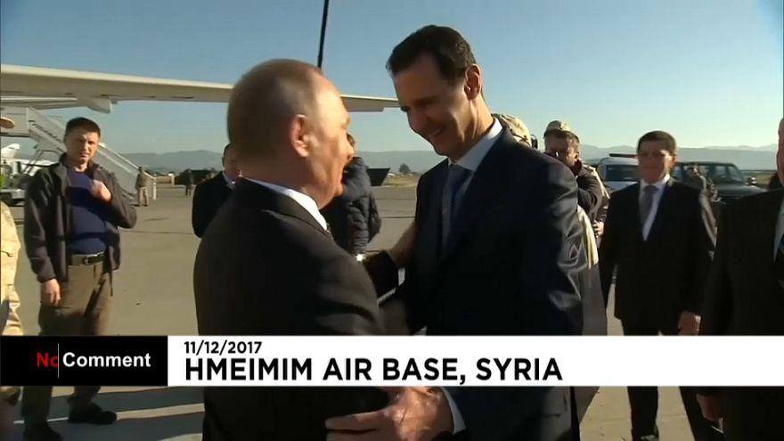 il presidente siriano Basar al-Assad incontra l'omologo russo Putin