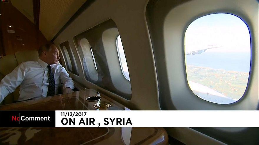 Putin in seinem Flugzeug