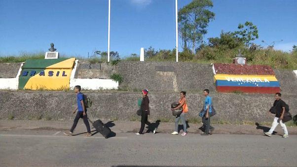 Milhares de venezuelanos refugiam-se no Brasil